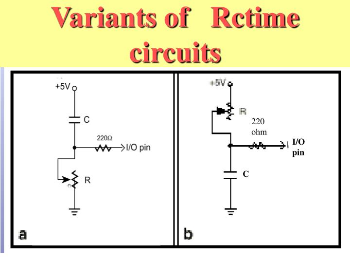 Variants of   Rctime circuits