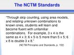 the nctm standards
