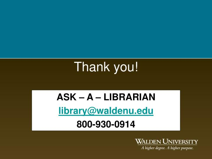 ASK – A – LIBRARIAN