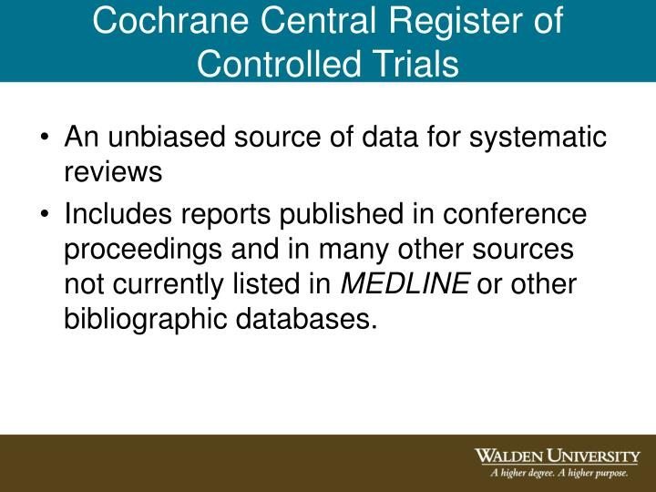 Cochrane Central Register of Controlled Trials