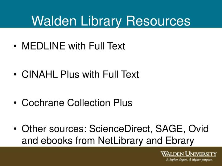 Walden Library Resources