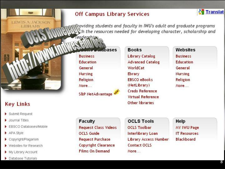 OCLS Homepage