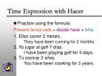 time expression with hacer8