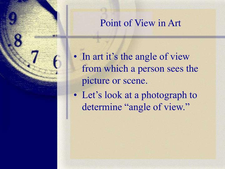 Point of view in art