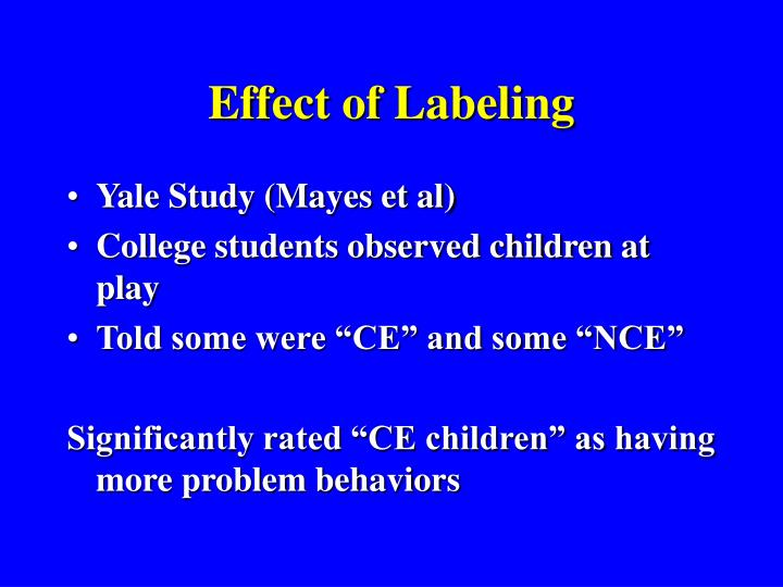 Effect of Labeling