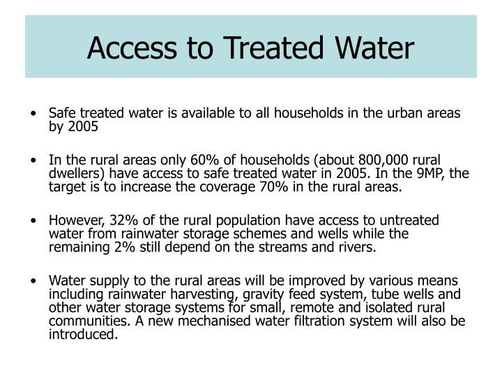 Access to Treated Water