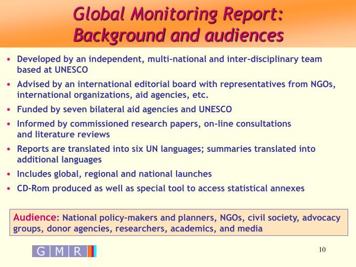 Global Monitoring Report: