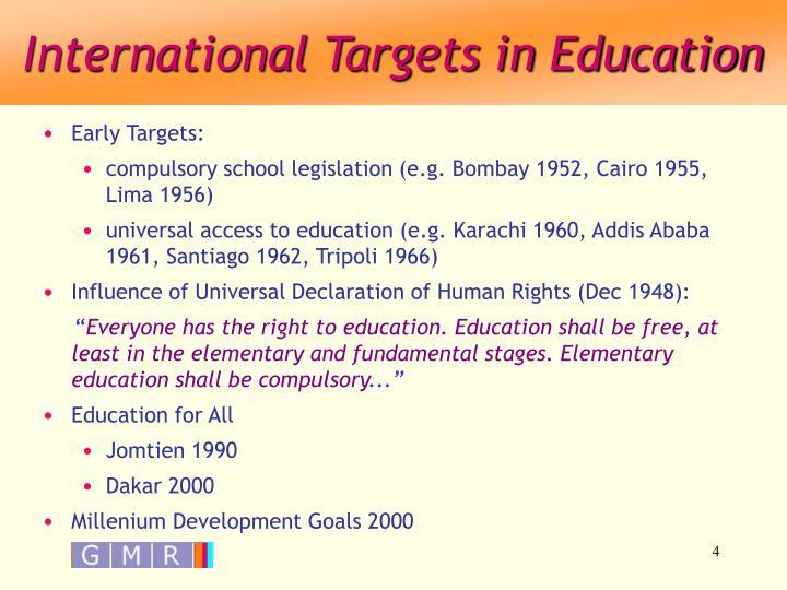 International Targets in Education
