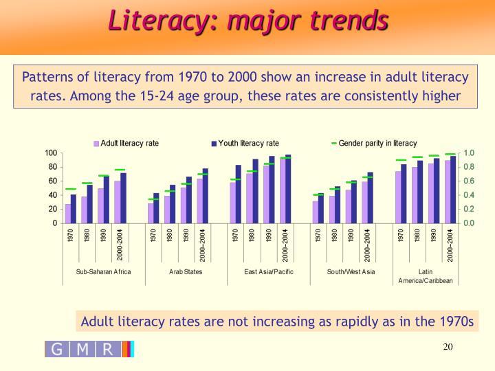 Literacy: major trends