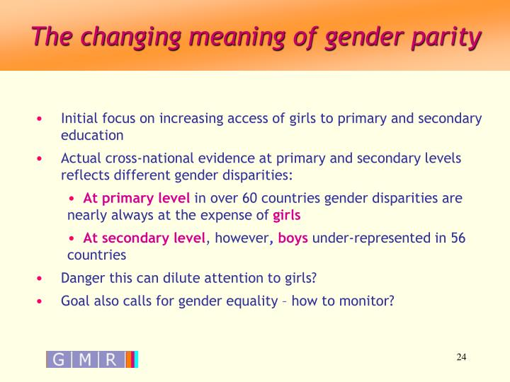 The changing meaning of gender parity
