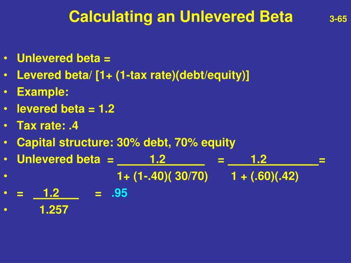 Calculating an Unlevered Beta