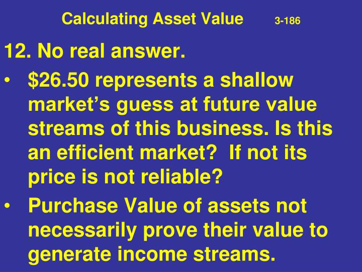 Calculating Asset Value