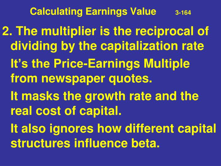 Calculating Earnings Value