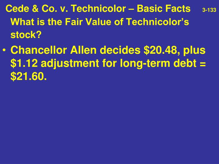 Cede & Co. v. Technicolor – Basic Facts