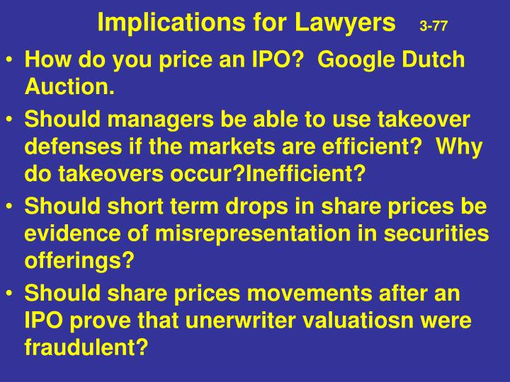 Implications for Lawyers
