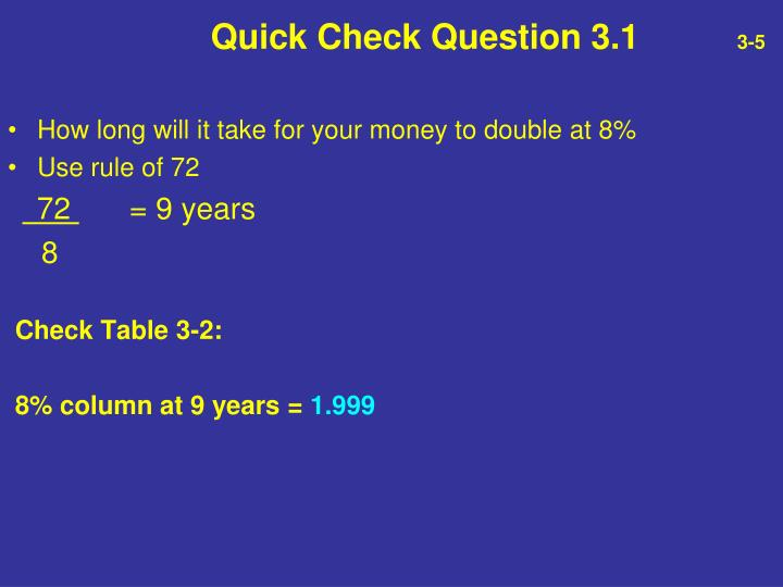 Quick Check Question 3.1