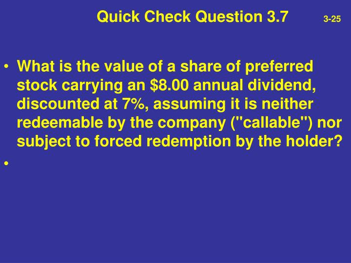 Quick Check Question 3.7