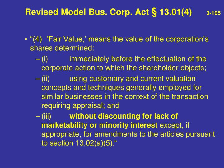 Revised Model Bus. Corp. Act