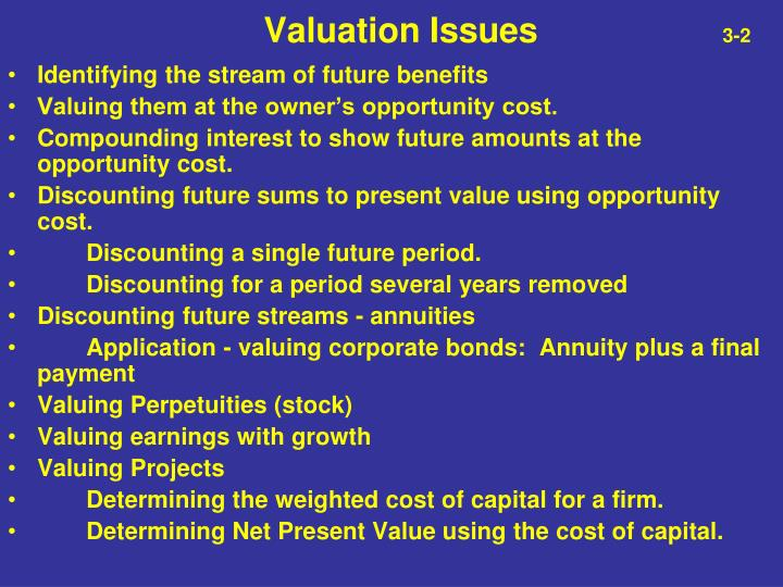Valuation issues 3 2