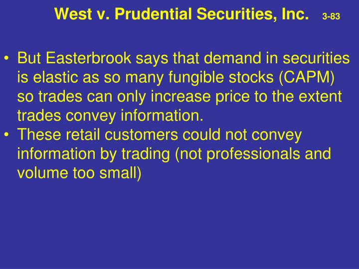 West v. Prudential Securities, Inc.