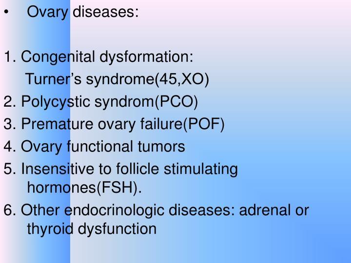 Ovary diseases: