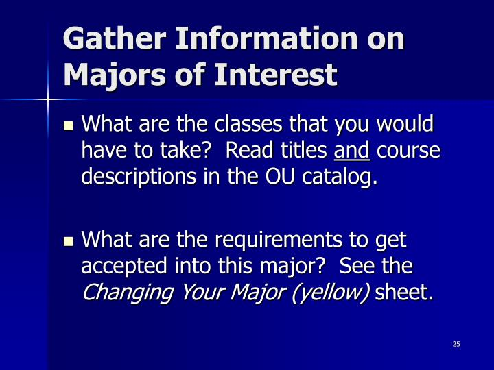 Gather Information on