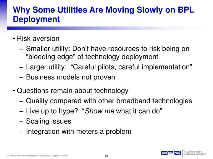 Why Some Utilities Are Moving Slowly on BPL Deployment