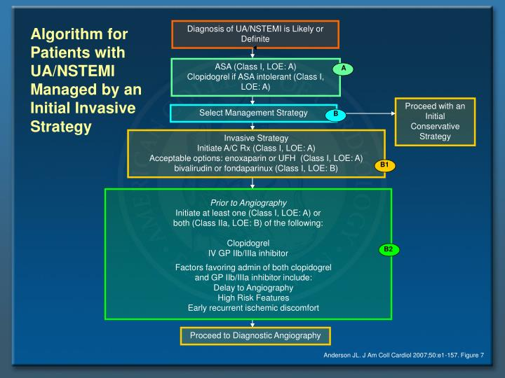 Algorithm for Patients with UA/NSTEMI Managed by an Initial Invasive Strategy