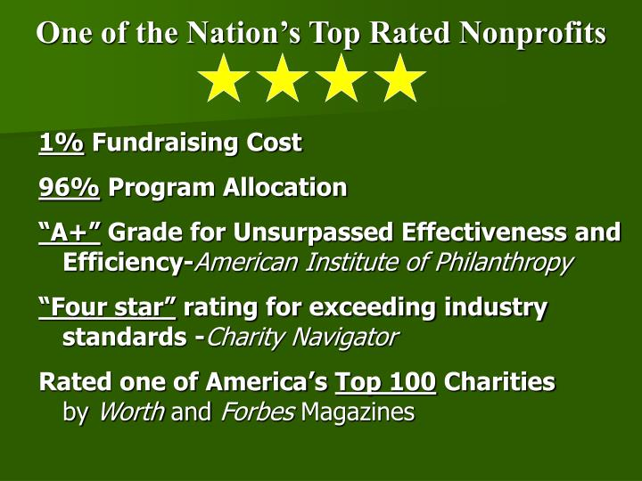One of the Nation's Top Rated Nonprofits