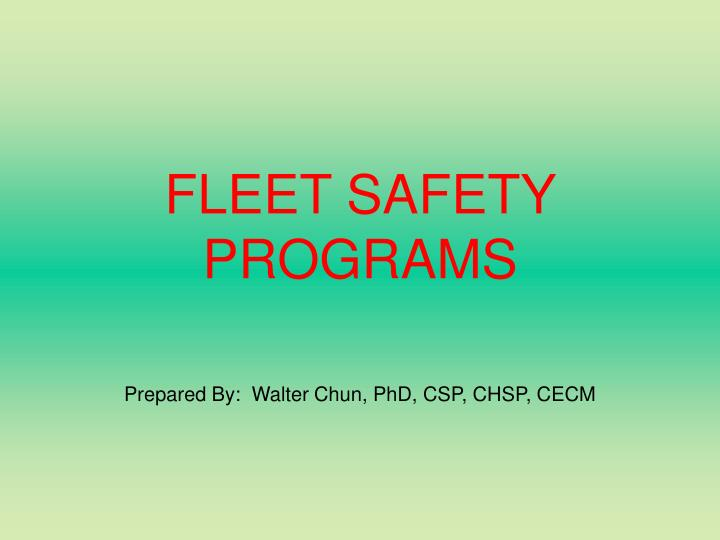 fleet safety programs n.