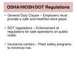 osha hiosh dot regulations