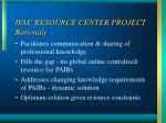 ifac resource center project rationale
