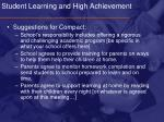 student learning and high achievement