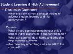 student learning high achievement