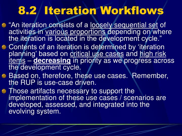 8.2  Iteration Workflows