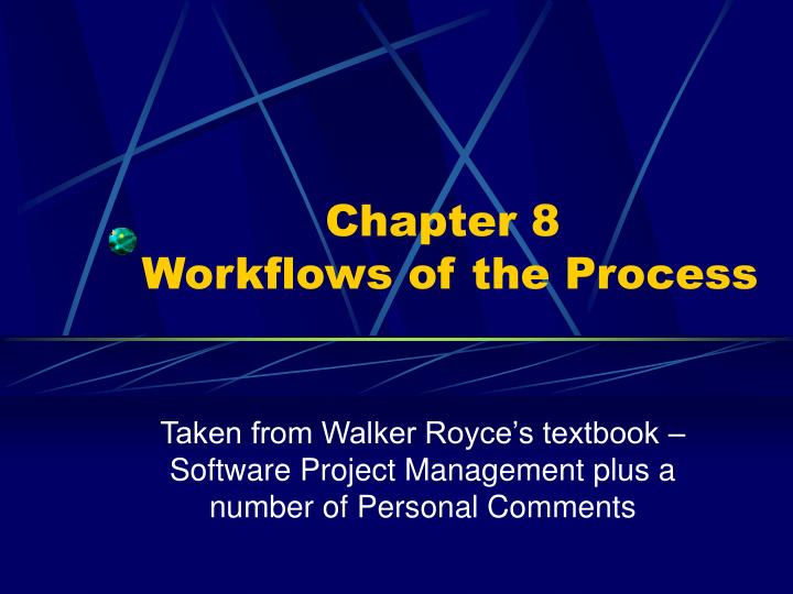 Chapter 8 workflows of the process