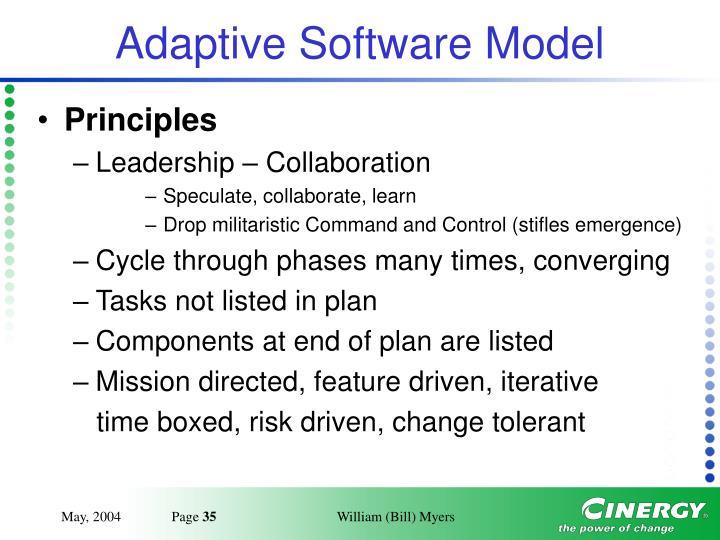 Adaptive Software Model