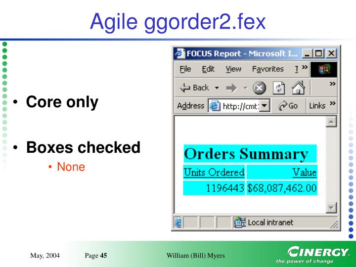 Agile ggorder2.fex