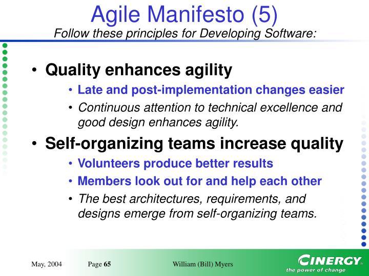 Agile Manifesto (5)