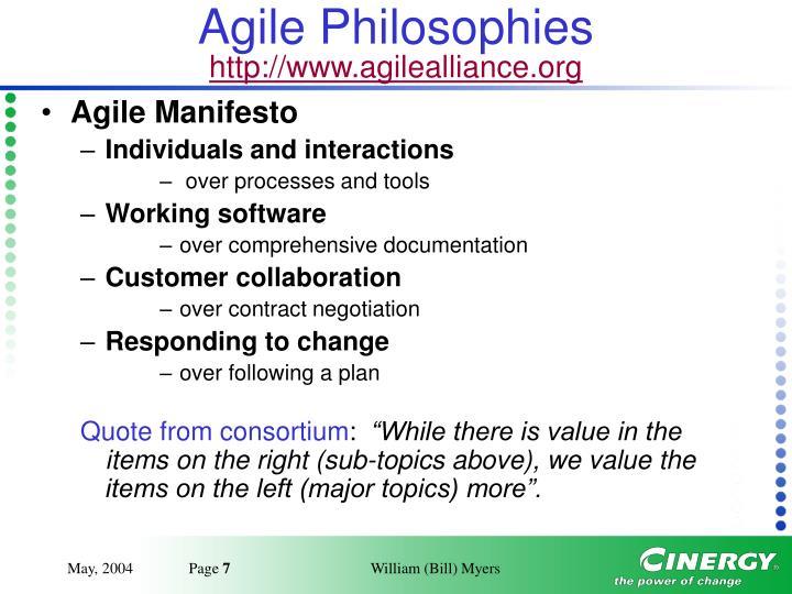 Agile Philosophies