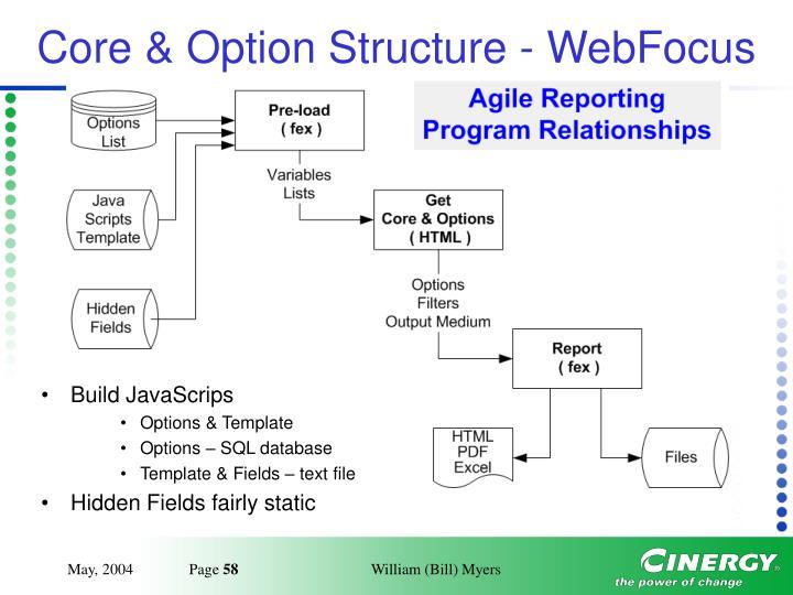 Core & Option Structure - WebFocus