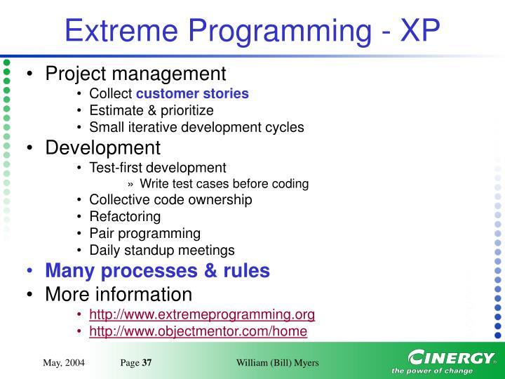 Extreme Programming - XP