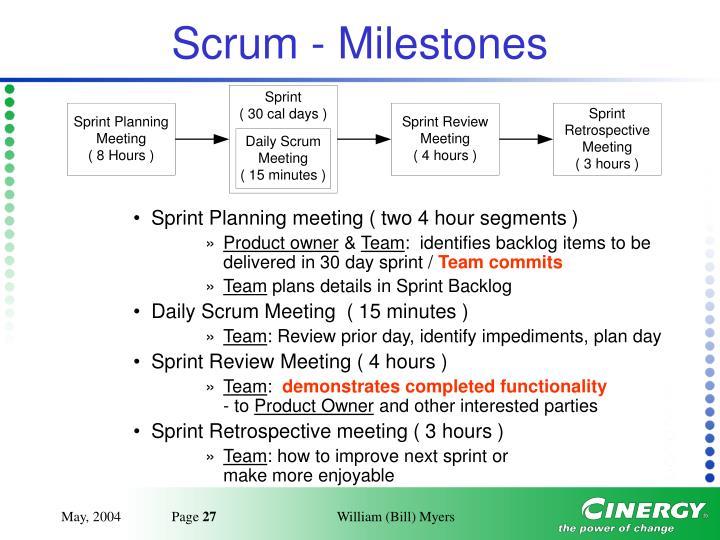 Scrum - Milestones