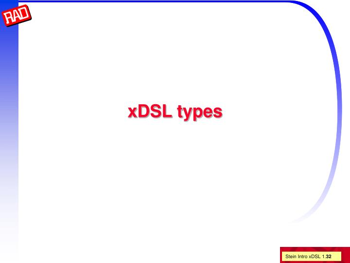 xDSL types