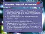 el sistema coeficiente de rozamiento1
