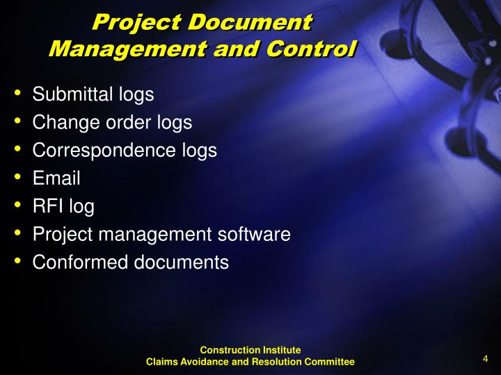 Project Document Management and Control