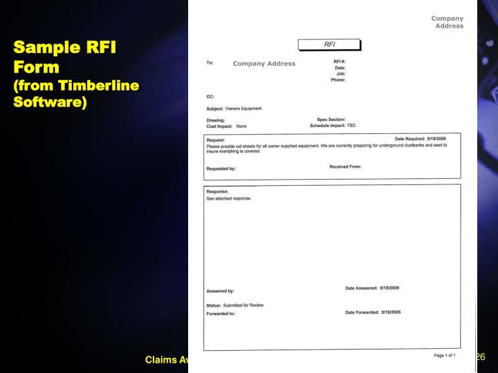 Sample RFI