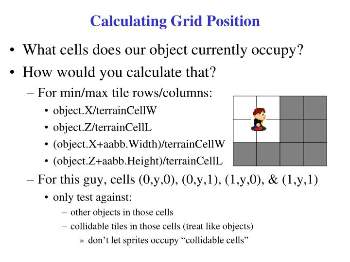 Calculating Grid Position