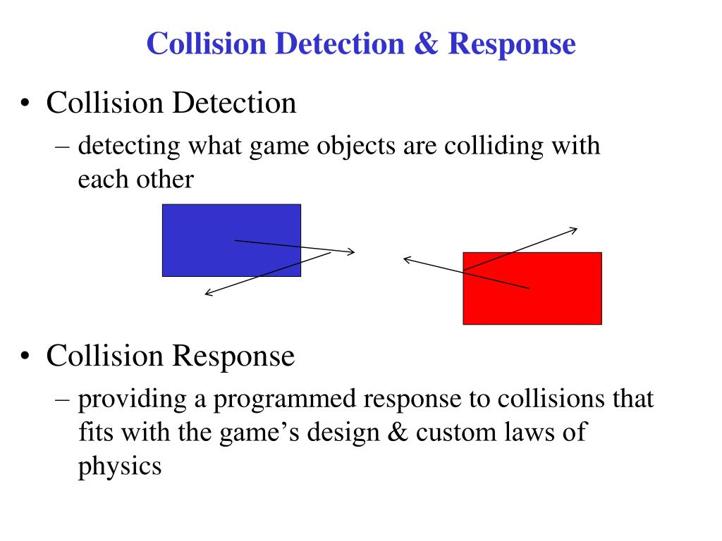 PPT - CSE 381 – Advanced Game Programming Collision Detection