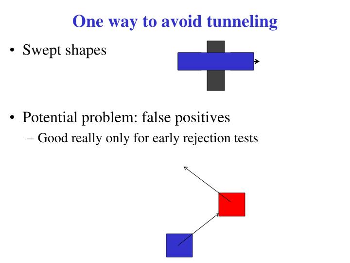 One way to avoid tunneling